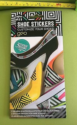SHOE STICKERS CUSTOMIZE customise YOUR SHOES Shoe Decoration 3 Designs BNIP new