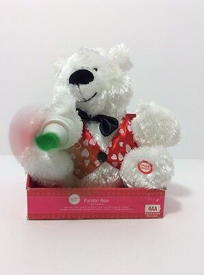 """Fanatic Bear Interactive Plush """"I Can't Get Enough of You Baby"""" Valentine's Day"""