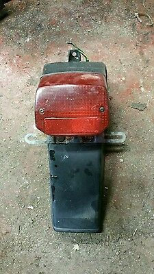 Honda sh50 city express rear light and number plate hanger