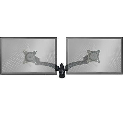Wall Mount Monitor Arm: Standard Dual Screen Black