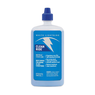 WHITE LIGHTNING BIKE BICYCLE CLEAN RIDE CHAIN LUBE SELF CLEANING 8oz.