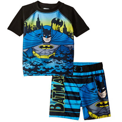 Batman Boys Swim Trunks and Rash Guard Set (Toddler) 2753474BT