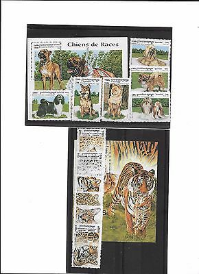 Cambodia. 1998. Big Cats, 1999 Dogs. mnh incl. m/s.