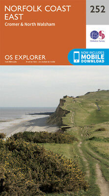 Norfolk Coast East Explorer Map 252 Ordnance Survey 2015