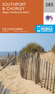 Southport and Chorley Explorer Map 285 Ordnance Survey 2015
