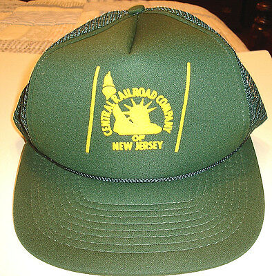 New CENTRAL RAILROAD COMPANY of NEW JERSEY Dark Green CAP / HAT