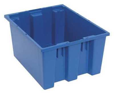 Nest and Stack Container, 19-1/2 in, Blue QUANTUM STORAGE SYSTEMS SNT190BL