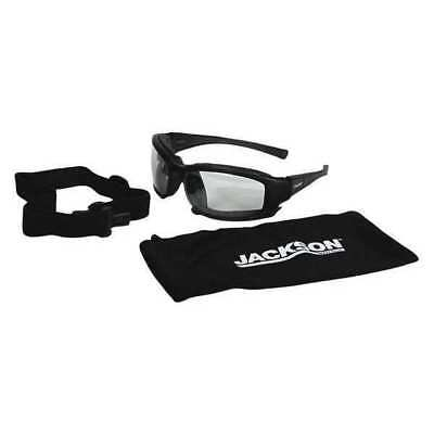 Jackson Clear Safety Glasses, Anti-Fog, Scratch-Resistant, 25672