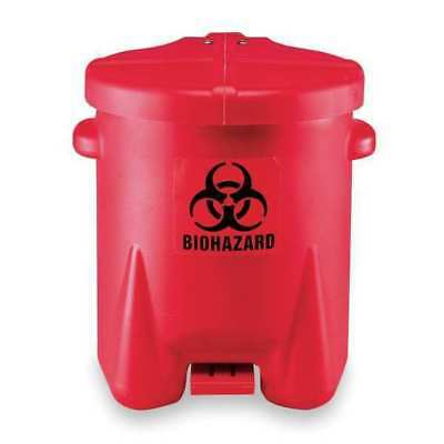 EAGLE 943BIO Biohazard Step On Waste Container, 6 gal.