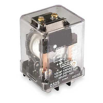 DAYTON 1EHX8 Relay,Latching,DPDT,120VAC,Coil Volts