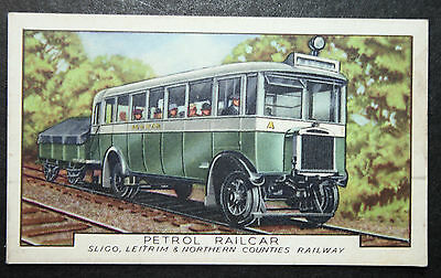 Sligo Leitrim & Northern Counties Railway  Petrol Railcar  Vintage Card  VGC