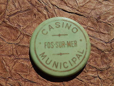 JETON CASINO Gaming TOKEN FOS SUR MER 100 francs NUMEROTE