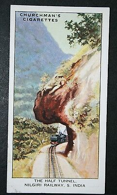 Nilgiri Hill Railway   Half Tunnel   India  Vintage Card   VGC