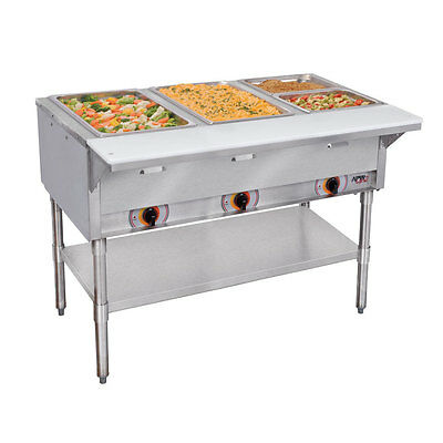 APW Wyott SST-3-120 3 Sealed Well Hot Food Steam Table Electric Coated Legs 120v