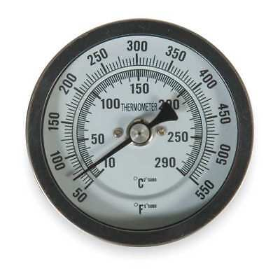 1NFZ1 Bimetal Thermom, 3 In Dial, 50 to 550F