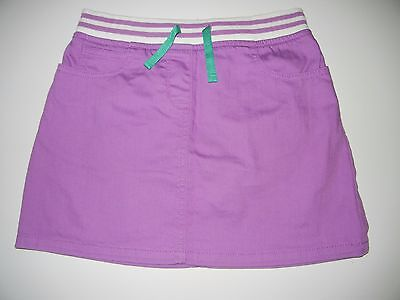 Mini Boden 9/10 Girls Purple Heart Denim Skirt CG