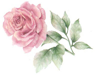 FaBuLouS PinK TeA RoSeS ShaBby WaTerSLiDe DeCALs TraNsFeRs