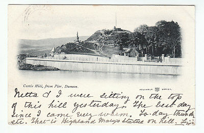 Castle Hill From Pier Dunoon 28 Aug 1902 Haxton Bell Rose Terrace Cupar Fife