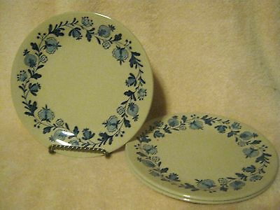 "3 - 8"" Luncheon Plates ~  GRETCHEN BLUE ~ from Johnson Bros. England"