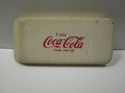 VINTAGE  ENJOY  Coca~Cola  ERASER  ERASE DRUGS--- SAY NO!  ADVERTISEMENT