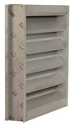 DAYTON 4FZG4 Louver,Wall Opening 24x24In,Galvannealed