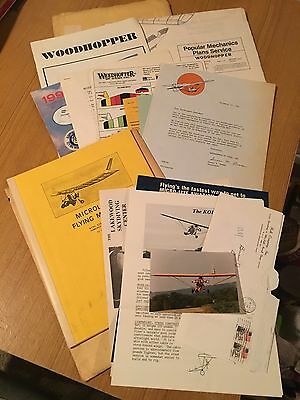 Woodhopper Ultralight Plane Original Plans, Manual and related material