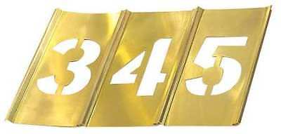 CH HANSON 10013 Stencil Set, Numbers, Brass