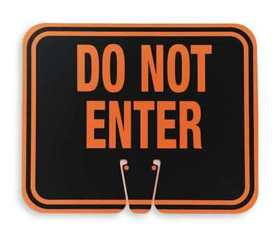 ZORO SELECT 03-550-DNEG Traffic Cone Sign,Orng/Blk,Do Not Enter
