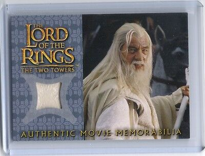 LOTR Lord Of The Rings Gandalf's Silk Shirt memorabilia costume swatch card #9