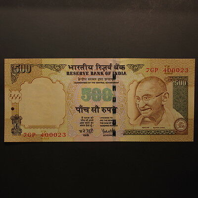 """India 500 Rupees 2008 """"Gandhi - Followers"""" P#99c Banknote Uncirculated"""