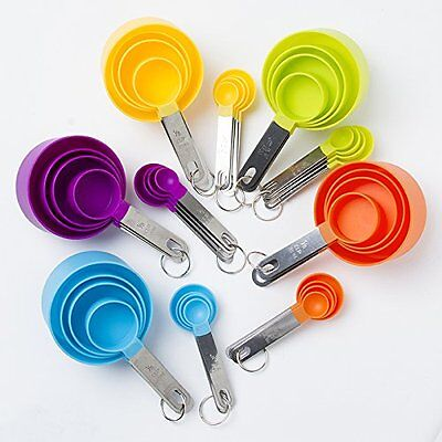 Cook's Corner 8Pc Colorful Stainless Steel Measuring Cups And Spoons Set