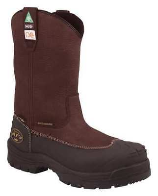 Size 10 Work Boots, Unisex, Brown, Steel Toe, B, Oliver