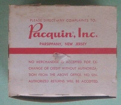 Vintage Pacquins Hand Cream Empty Box Advertising