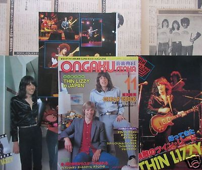 THIN LIZZY in JAPAN SCOTT GORHAM PHIL LYNOTT 1980 CLIPPING JAPAN OS 11A 17PAGE