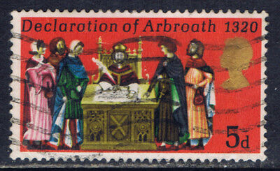 Great Britain #612(4) 1970 5 pence Signing of the DECLARATION OF ABROATH Used