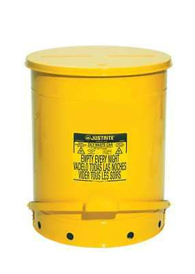 Oily Waste Can,21 Gal.,Steel,Yellow JUSTRITE 09701