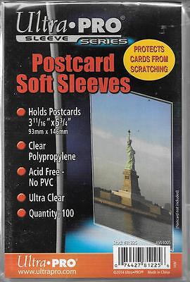 (100) Ultra Pro Postcard Size Sleeves / Covers - Free Shipping