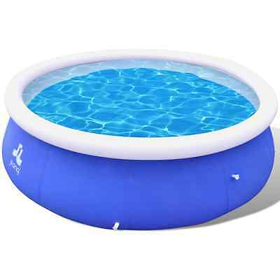 S# New 10ft Above Ground Swimming Pool Inflatable Spa Filter Pump Round Family P