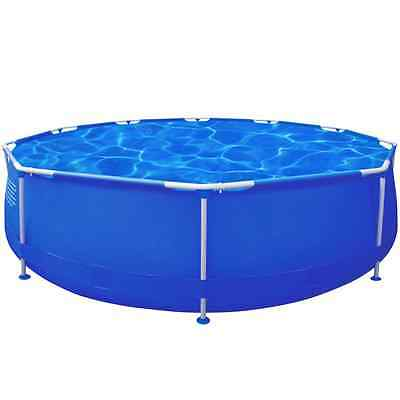 S# 12ft 360cm Above Ground Swimming Pool Filter Pump Round Inflatable Metal Fram