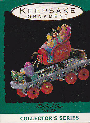 1993 Hallmark Flatbed Car Noel R.R. Series Miniature Ornament