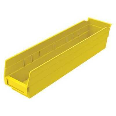 "Yellow Shelf Bin, 17-7/8""L x 4-1/8""W x 4""H AKRO-MILS 30128YELLO"