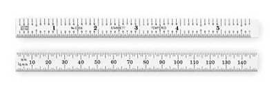 STARRETT C334-300 Steel Rule,Flexible,300mm,Type 34 Grad
