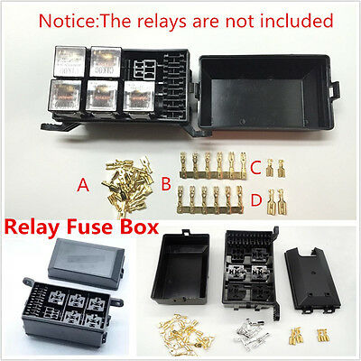 Car Fuse Relay Box Socket Fuse Relay Holder 6 Relay 5 Road The Nacelle Insurance