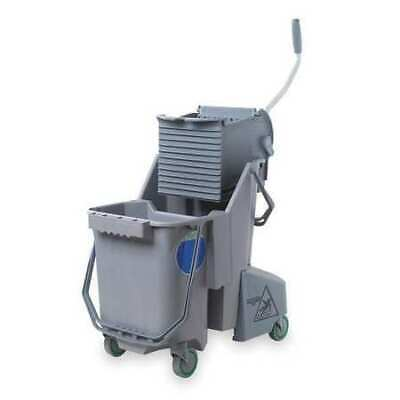 UNGER COMBG Mop Bucket and Wringer, 32 qt., Gray