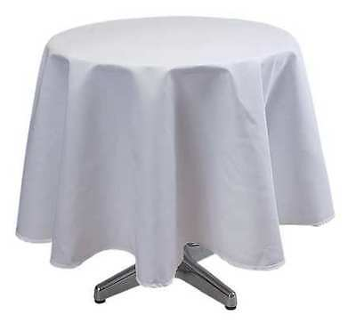 PHOENIX TO72R-WH Tablecloth,72 Dia.,White