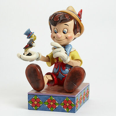 Disney Traditions Jim Shore Pinocchio & Jiminy Cricket 75th Anniversay Figurine