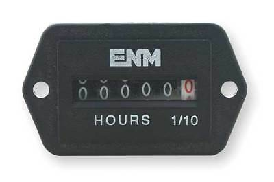 DC Hour Meter,6-Digit,2-Hole Rectangular ENM T41E45