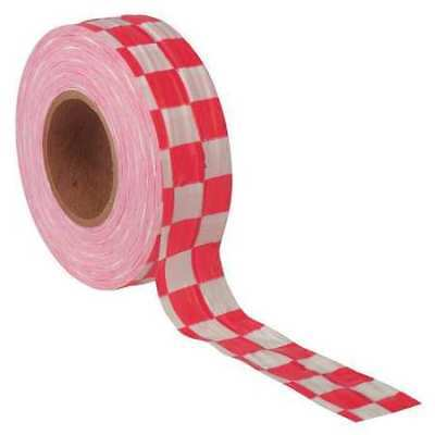 Flagging Tape,White/Red,300ft x 1-3/8 In PRESCO PRODUCTS CO CKWR-200