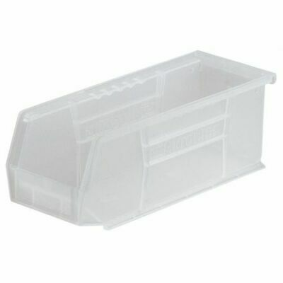 """Clear Hang and Stack Bin, 10-7/8""""L x 4-1/8""""W x 4""""H AKRO-MILS 30224SCLAR"""