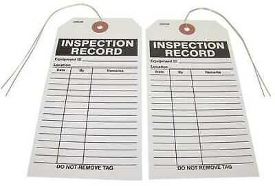 BADGER TAG & LABEL CORP 116 Inspection Record Tag, 2-7/8 in. W, PK25